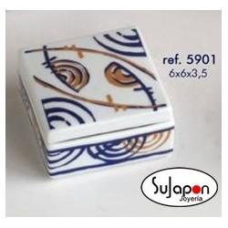 Caja de porcelana Galos
