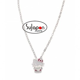 GARGANTILLA DE PLATA DE HELLO KITTY