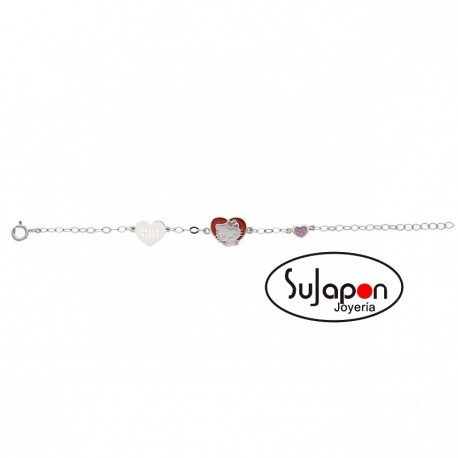 Pulsera Plata Hello Kitty Heart