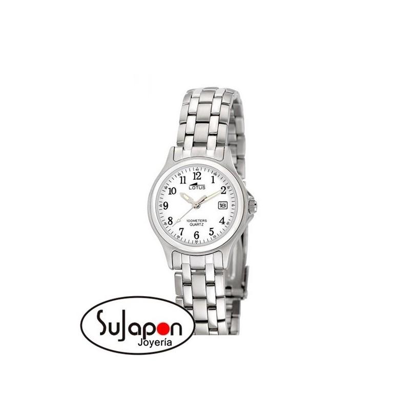 Reloj Lotus de señora de acero