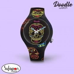 Reloj Doodle Black Skull