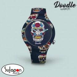 Reloj Doodle Blue Skull
