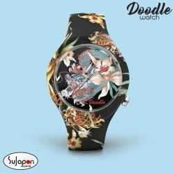 Reloj Doodle Dragon y Orquidea