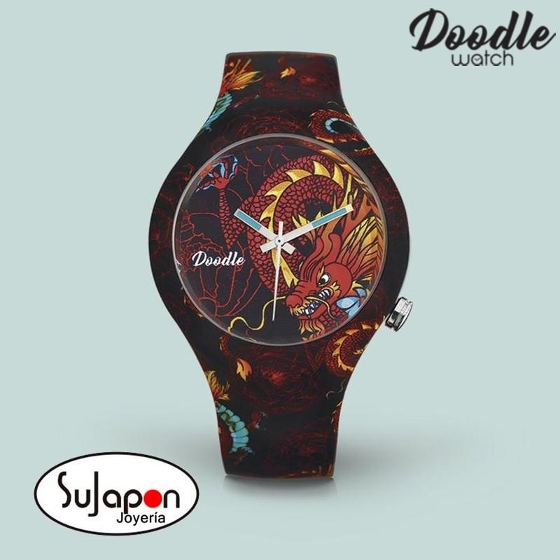 Reloj Doodle Dragon Rojo