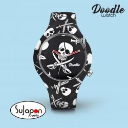 Reloj Doodle Black Pirates Skulls