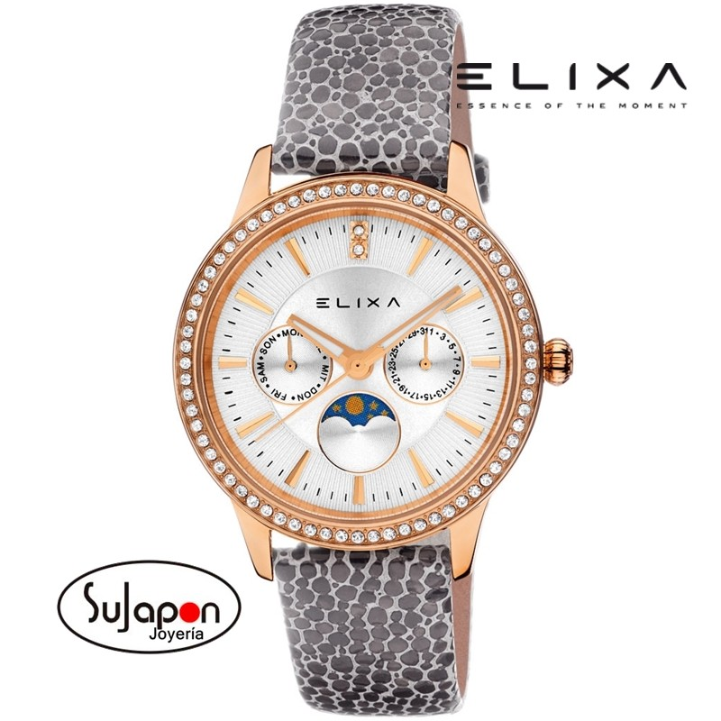 ad3d327310a9 Reloj Elixa mujer chapado rosa