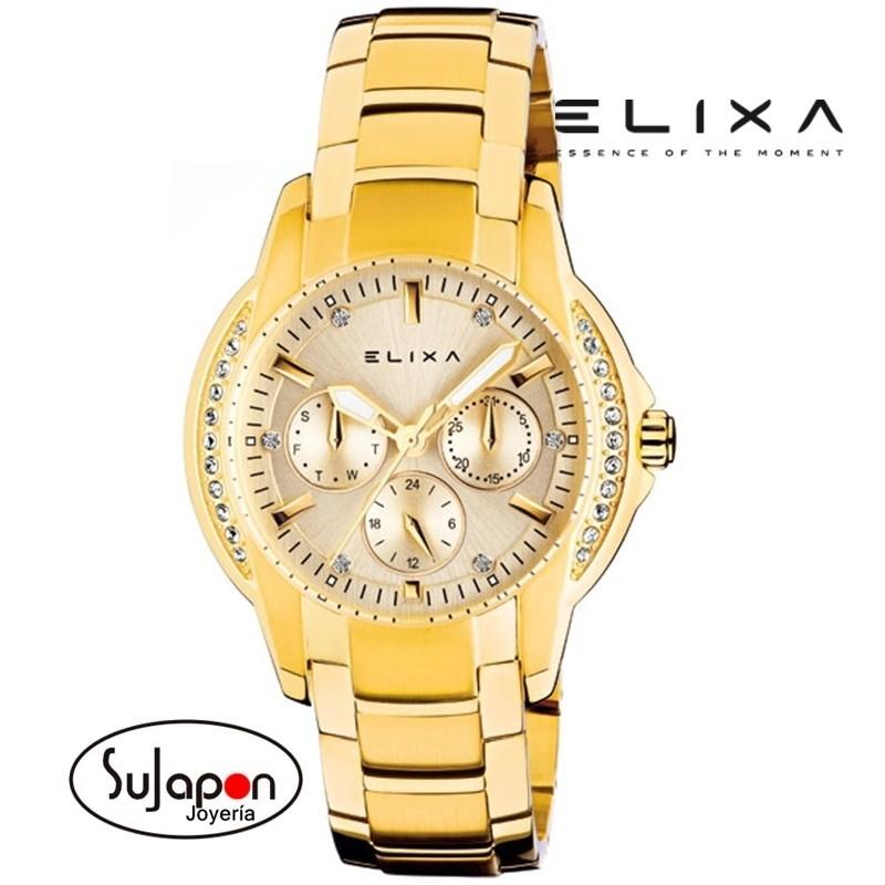Reloj señora Elixa de acero chapado
