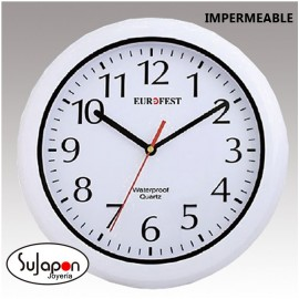 RELOJ DE PARED IMPERMEABLE EUROFEST