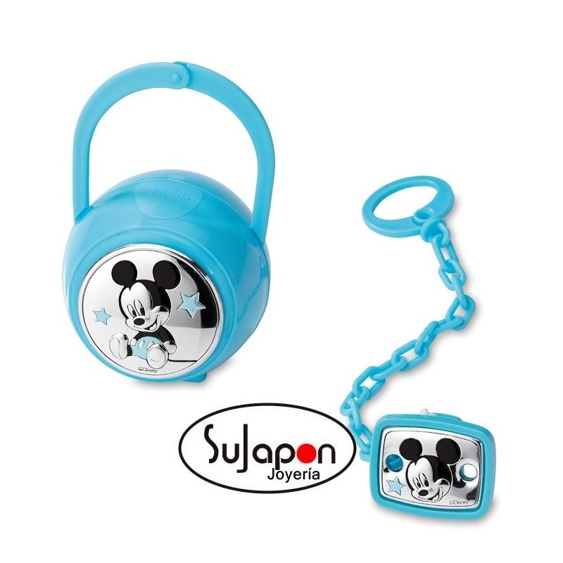 Set Pinza Chupete + Caja PortaChupete Mickey