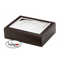 CAJA/JOYERO DE MADERA Y PLATA