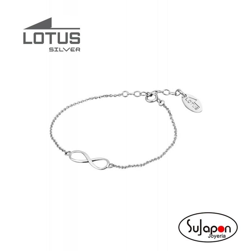 Pulsera Lotus Silver con Infinito
