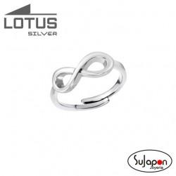 Sortija Lotus Silver con símbolo del infinito