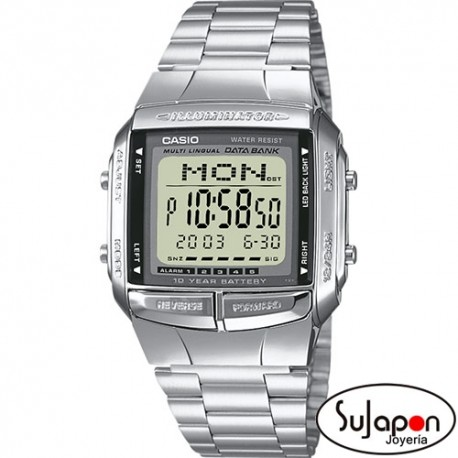 Reloj Casio digital retro plateado DB360N