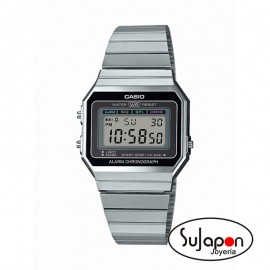 RELOJ CASIO PLATEADO A700WE