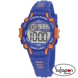 Reloj Nowley digital niño/a azul y naranja
