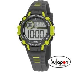 Reloj Nowley digital niño/a gris y verde