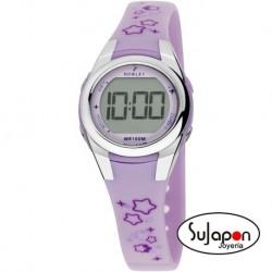 Reloj Nowley digital niña lila