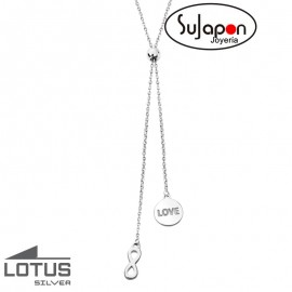 COLLAR LOTUS SILVER INFINITO AJUSTABLE