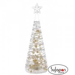 Árbol de Navidad de cristal con luz de 28cm
