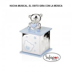 HUCHA MUSICAL CON OSITO GIRATORIO