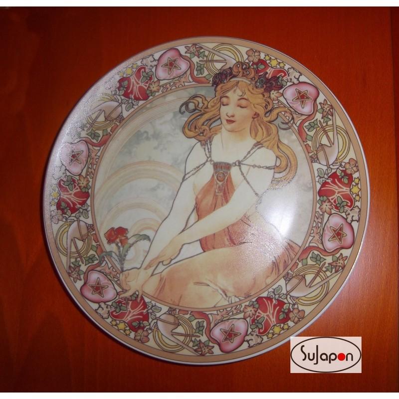 Plato porcelana decorado a mano