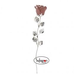 Rosa de 33 cm. color rosa