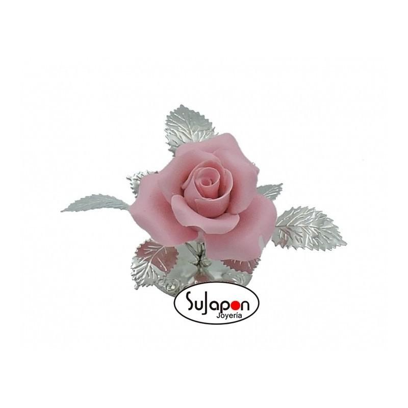 Figura Rosa Rosa de 7 cm. alto
