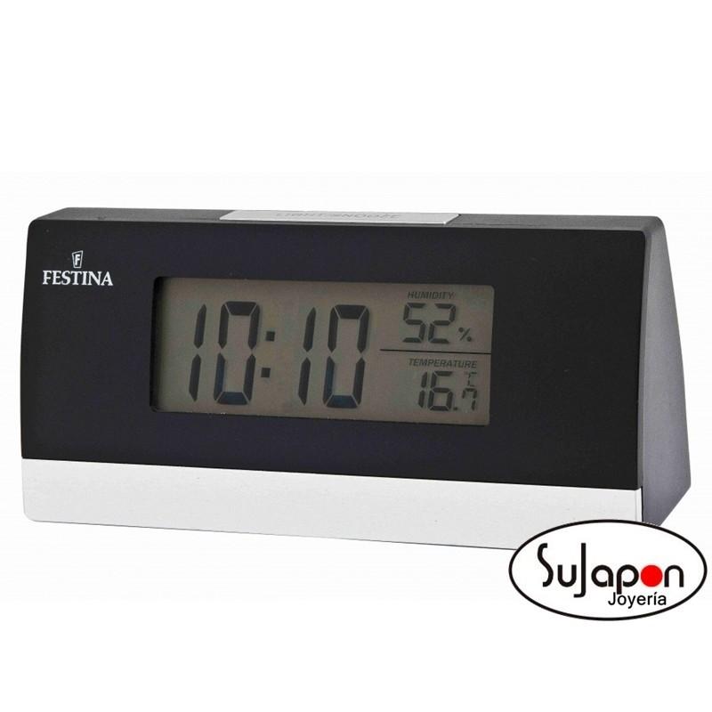 Despertador digital Festina con termómetro e higrómetro