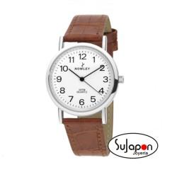 Reloj Nowley clásico correa de piel negra/marrón