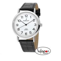 Reloj Nowley clásico correa de piel y números grandes